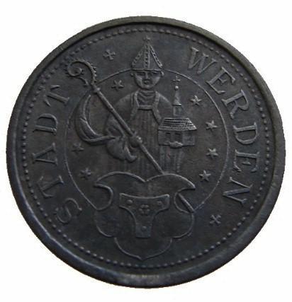 WWI GERMANY Werder 10 Pfennig no date Notgeld Coin Grade XF