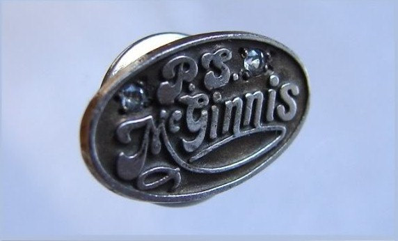 VINTAGE Men McGINNIS DIAMONDS President silvered Tie Tack