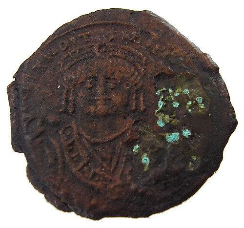 Ancient BYZANTINE Empire MAURICE TIBERIUS 582 to 602 Follis