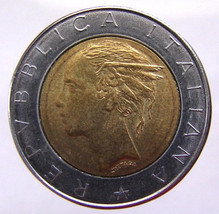 ITALY 19 Years Old 1985 Italian 500 Lire Winged... - $5.99