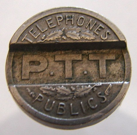 FRANCE TELEPHONE TOKEN Vintage over 70 years old 1937 Public