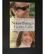 Somethings Gotta Give (VHS, 2004) - $8.40