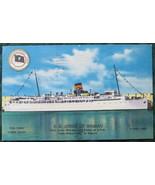 ColourPicture, Full Bleed, Linen Postcard, SS Queen of Nassa - $7.00