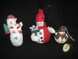Set of Three (3) Snowmen Each Snowman is Different - $9.85