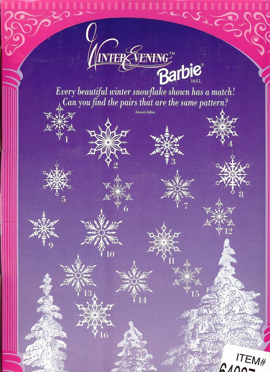 Barbie, Winter Evening Gown, Special Edition, Original 1998, Collectible New.