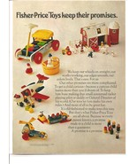 Vintage Ad 1971 Fisher Price Toys Little People Farm Airplane - $6.00