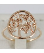18K ROSE GOLD TREE OF LIFE RING, SMOOTH, BRIGHT, LUMINOUS, MADE IN ITALY - $253.00