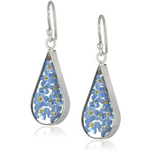Fashion Flower 925 Silver Drop Earrings for Women Jewelry A Pair/set Gift - $11.99