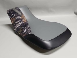 Yamaha Grizzly 350 Seat Cover YFM350 In 3-TONE GRAY/CONCEAL CAMO/BLACK - $32.95