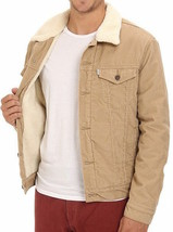 Levi's Men's Classic Corduroy Sherpa Trucker Button Up Jacket 723360004