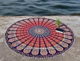 Indian Round Mandala Yoga Mat Wall Hanging Bohemian Beach Throw Tapestry... - £16.53 GBP