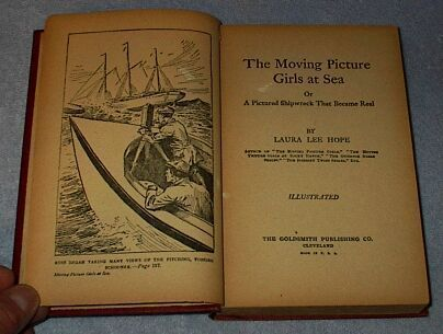 Laura Lee Hope The Moving Picture Girls at Sea 1915 Series Book