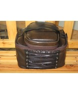 2 Cosmetic Bags Corset Lace Trim Travel Luggage Rock Goth - $17.25