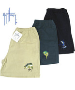 Guy Harvey 2 Bass Cotton Sport Short Small Gree... - $22.00