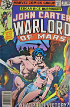 John Carter Warlord of Mars #17 Marvel Comics Bronze Age 1978 VG+ - £3.32 GBP