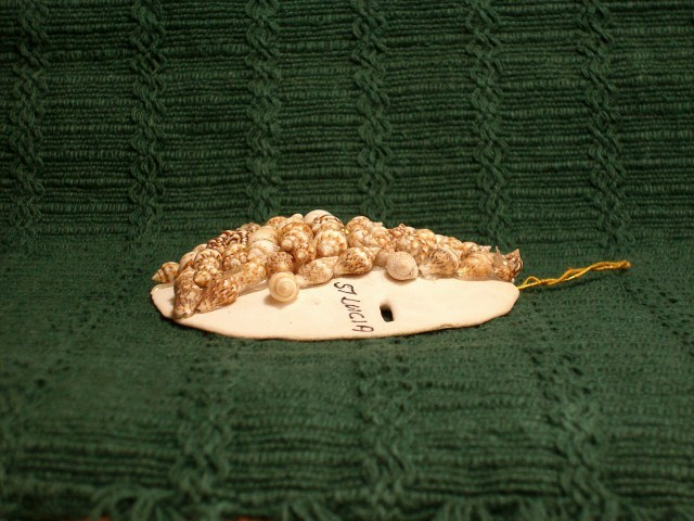 ST. LUCIA CHRISTMAS TREE Sea Shell Ornament - Very Rare & Unique Item!