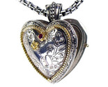 02003277 gerochristo 3277 silver gold byzantine heart locket 3 thumb155 crop