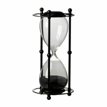 "1 Hr. Hourglass Sand Timer In Stand Black 6x13"" - 44360-BLAC - $49.49"
