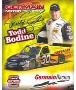 2005 TODD BODINE #30 GERMAIN RACING CRAFTSMAN TRUCK SERIES POSTCARD SIGNED - $10.75