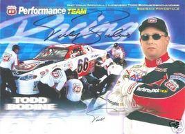 2000 TODD BODINE #66 PHILLIPS NASCAR  POSTCARD SIGNED - $11.75