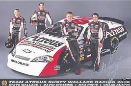 2008 DAVID STREMME #66 ATREUS NASCAR POSTCARD SIGNED - $10.75