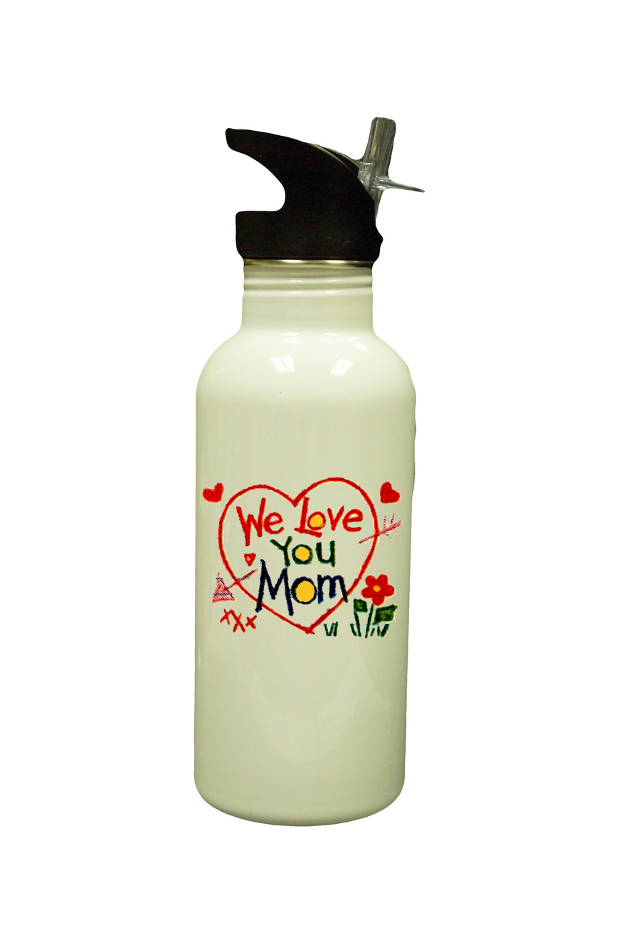 Mother day new white water bottle  1