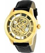 Men's Vintage 22571 Gold Dial Black Leather Automatic Dress Invicta Wris... - $93.50