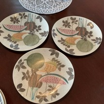 Red Wing Pottery Tampico Pattern DINNER PLATES FLAWS, SET OF 3 - $29.65