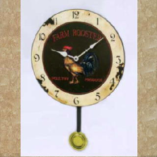 Clock - Antique Gold Finish Metal