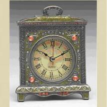 Clock - Antique Gold Finish Metal  - $16.95