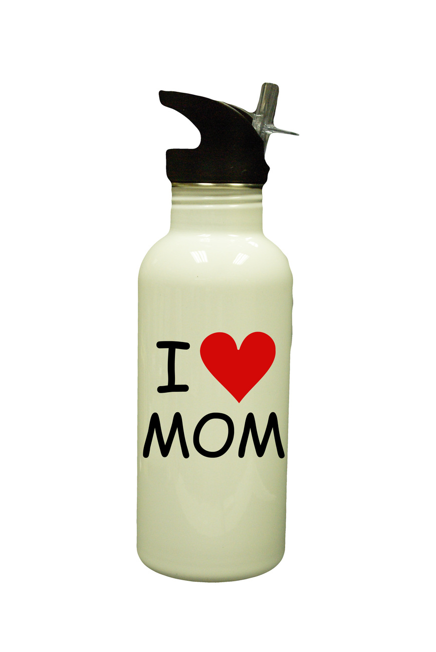 Mother day new white water bottle  4