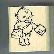 Kewpie mailman  rubber stamp - $8.99