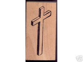 Large 3D Cross   rubber stamp 3 dimensional - $12.50