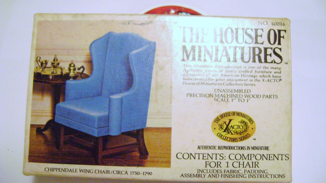 Minature Chippendale Wing Chair Kit