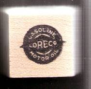 Primary image for Loreco gasoline motor oil logo Rubber Stamp  made in america free shipping