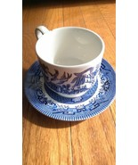 Churchill Blue Willow Cup & Saucer (small chip in cup) - $7.49