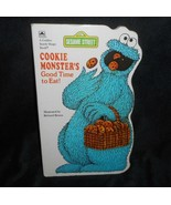 Vintage 1982 Cookie MONSTER Good Time To Eat Sesame Street Kids Livre Relié - $13.33