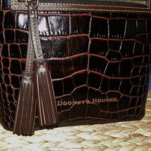 Dooney & Bourke Lani Croco Emb Leather Crossbody Brown T'Moro image 4