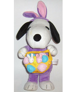 Plush  Stuffed  Singing SNOOPY in Bunny Outfit with Basket - $33.00