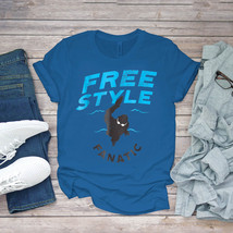 Swimming Funny Tee Freestyle Fanatic Swimmer 2 By Awesome Swim Unisex - $15.99+