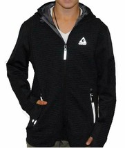 Gerry Youth Kid's Full Zip Ribbed Hooded Jacket, Black, Small - $9.89