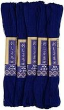 Dharma sashiko thread fine skein 40m col.6 indigo 5 skein set - $16.06