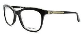 GUESS GU2619 005 Women's Eyeglasses Frames Cat-eye 53-17-135 Shiny Black + CASE - $59.80