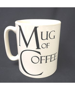 Large Oversize Mug Of Coffee Create By Just Mugs Designed In England Col... - $18.36