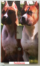 American Staffordshire Terrier Dog Light Switch Power Outlet wall Cover Plate image 1