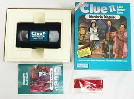 VINTAGE 1987 Parker Brothers Clue II VHS Board Game Complete - £15.77 GBP