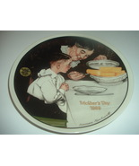 Norman Rockwell Sunday Dinner Mothers Day Plate 1989 Vintage - $12.99