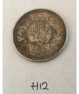 Antique Fine Silver One Rupee British India 1919 King George Coin H12 Un... - $313.60