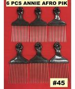 "(6PCS) ANNIE AFRO PIK  #45  AFRO METAL PIK 6""x3"" #45 - $4.94"