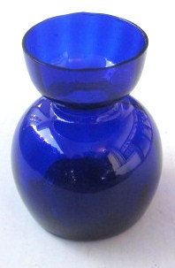 Cobalt Blue Collectible Handblown Blubous Glass Table Display Made In Italy